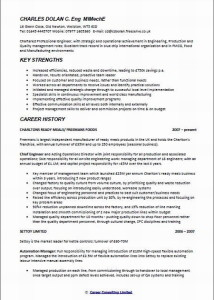 chief engineer CV sample page 1